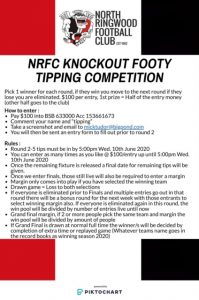 Knockout Footy Tipping